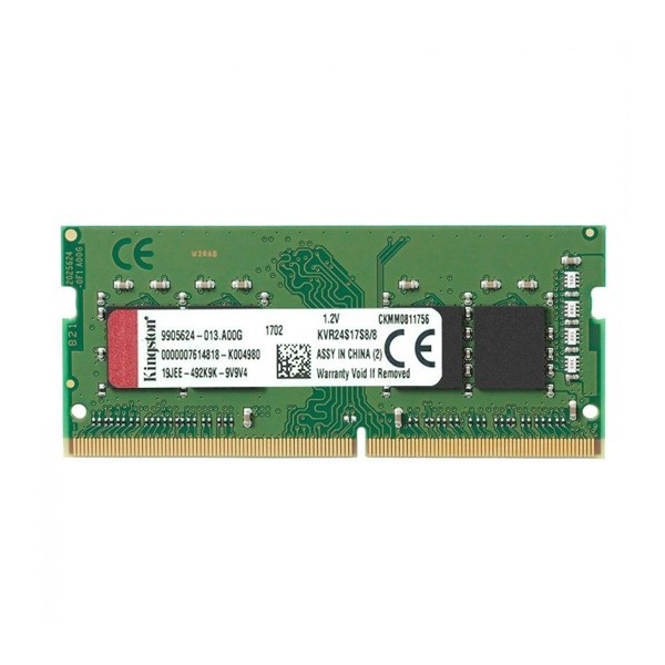 RAM Speicher Kingston 8GB DDR4 2400MHz Module KVR24S17S8/8 8 GB DDR4 2400 MHz SO-DIMM
