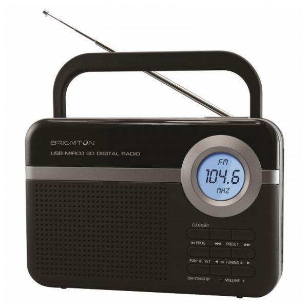 Tragbares Radio BRIGMTON BT 251 N Schwarz