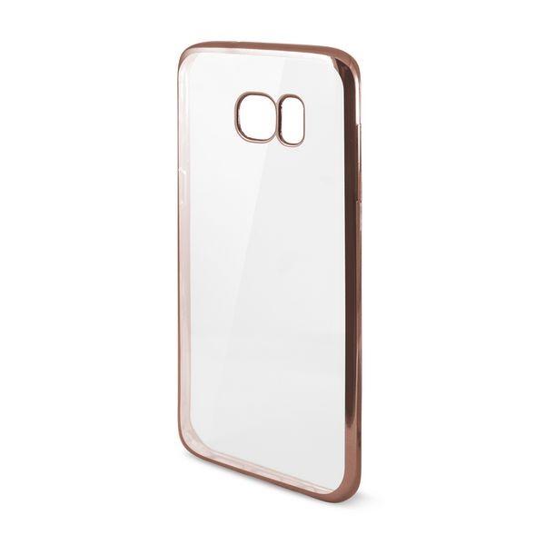 Handyhülle Samsung Galaxy S7 Edge Flex Metal TPU Durchsichtig Rotgold Metallic