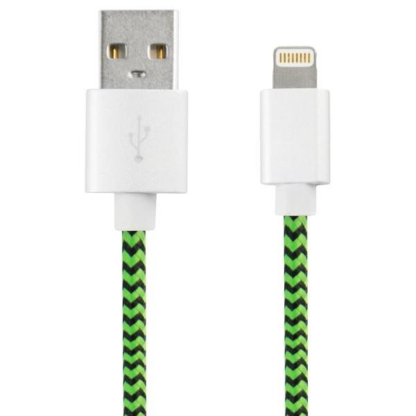 USB auf Lightning Verbindungskabel Sport 1 m Grün Schwarz