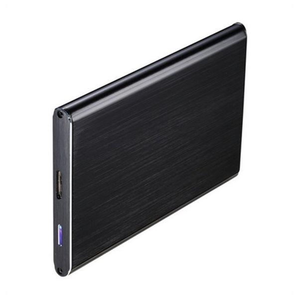 """Externe Box TooQ TQE-2529B HD 2.5"""" SATA III-USB 3.0 FAT32 / NTFS / eXT2 / HFS Aluminium Schwarz"""