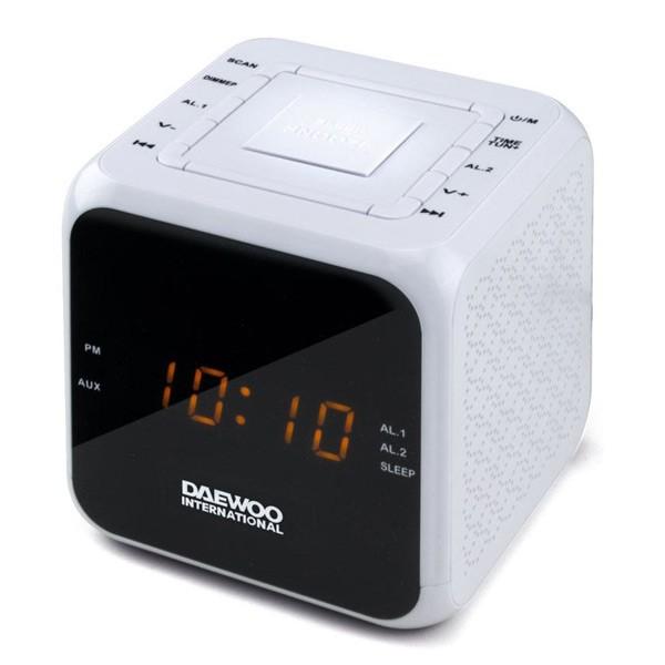 Radiowecker Daewoo DCR-450 Weiß