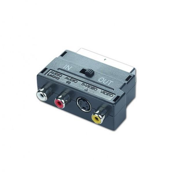 Doppelgerichteter Adapter SCART auf RCA / S-Video GEMBIRD CCV-4415 Schwarz