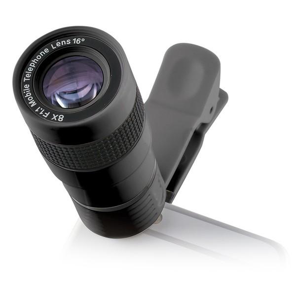 Smartphone-Objektiv Clip & Zoom 8x F/1.1 Schwarz