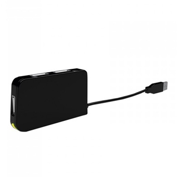 4-Port USB Hub approx! APPHT4BK USB 2.0 Schwarz