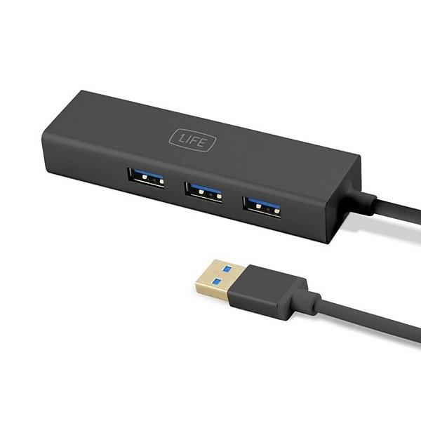 3-Port USB Hub 1LIFE 1IFEUSBHUB3 USB 3.0 Schwarz