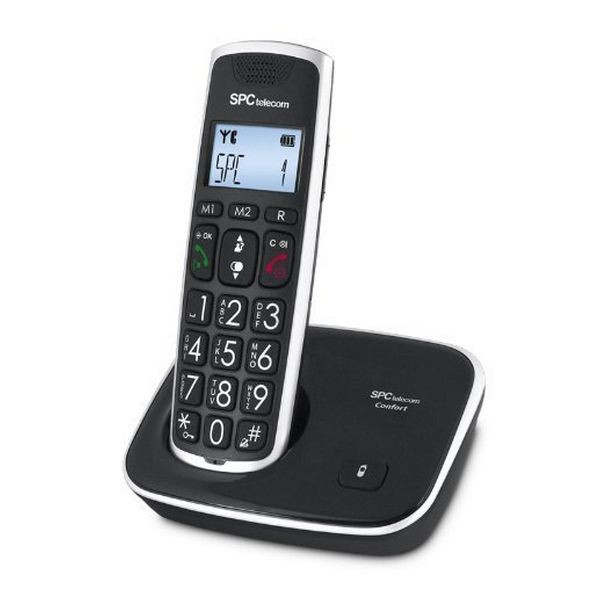 SPC 7608N Telefon DECT Big keys AG20 ID LCD ECO schwarz