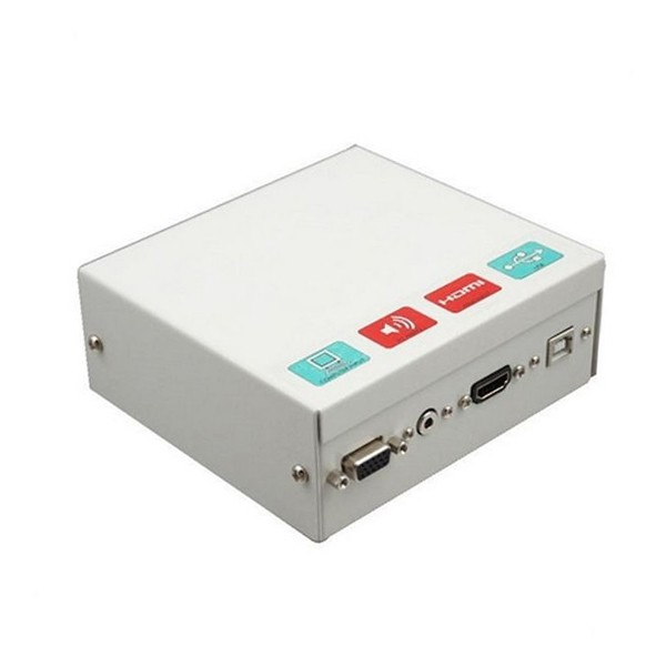 Schirmanschlusskasten für das interaktive Whiteboard Traulux TCCB5M HDMI VGA 3,5 mm USB Metall