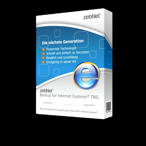 zebNet® Backup for Internet Explorer® TNG - Single User License for 1 Computer