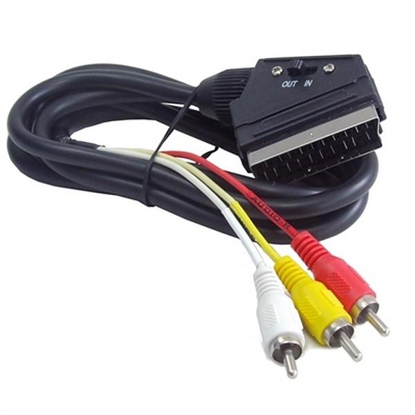 Kabel 3 x RCA zu Euroconector GEMBIRD CCV-519-001 Schwarz