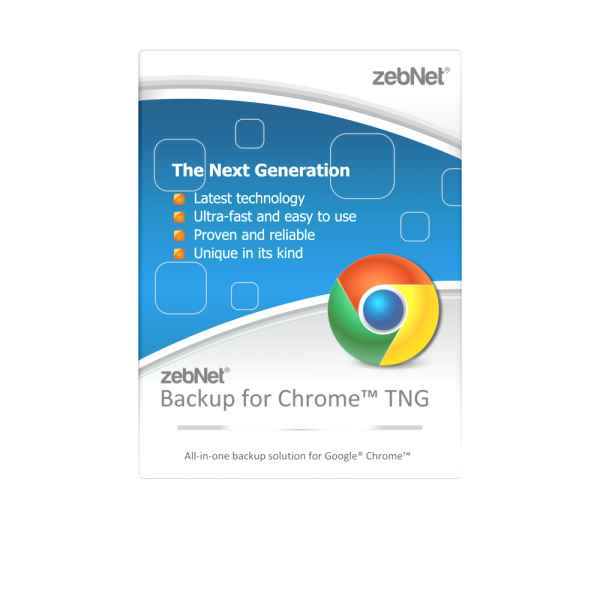 zebNet® Backup for Chrome™ TNG - Single User License for 1 Computer