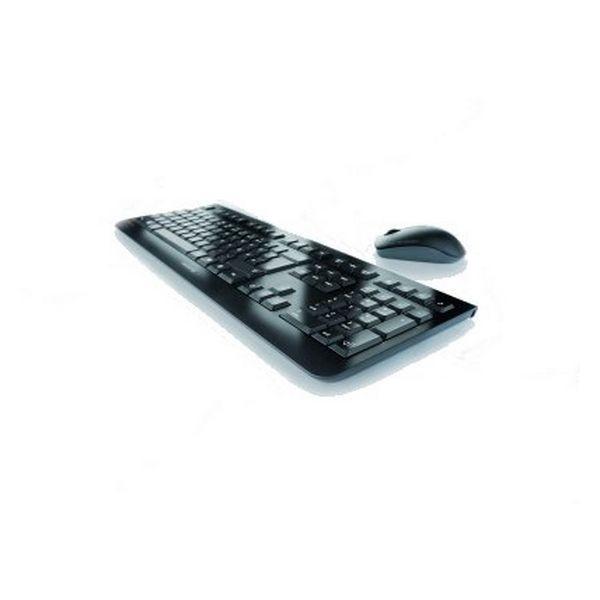 Tastatur mit Drahtloser Maus Cherry JD-0700ES Schwarz