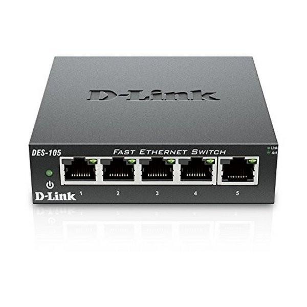 Schalter für das Büronetz D-Link DES-105 LAN