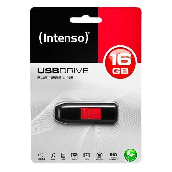USB Pendrive INTENSO 3511470 16 GB Schwarz