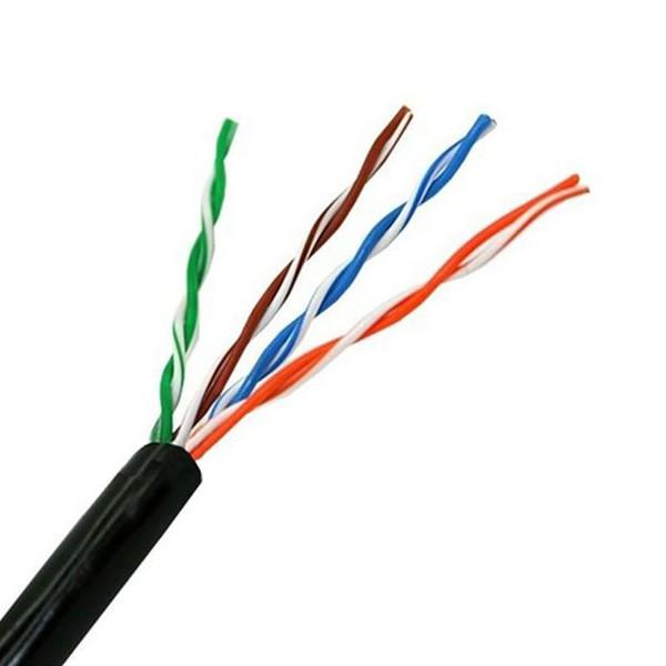 UTP starres Netzwerkkabel der Kategorie 5e NANOCABLE 10.20.0304-EXT-BK 305 m Schwarz