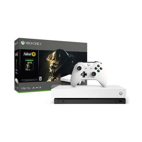 Xbox One X + Fallout 76 Sony 53518 1 TB 4K HDR Weiß