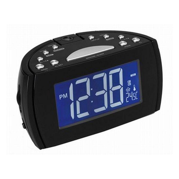 Radiowecker mit LCD-Projektor Denver Electronics 224810 Schwarz