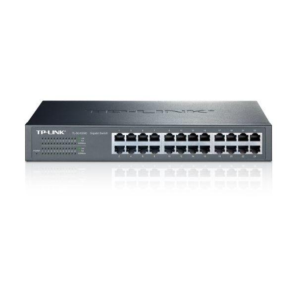 Schalter für das Netz mit Schaltschrank TP-LINK TL-SG1024D 24P Gigabit