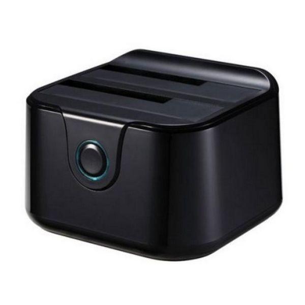 """Dual-Dockstation TooQ TQDS-802B 2.5""""-3.5"""" HDD SATA USB 3.0 Schwarz"""
