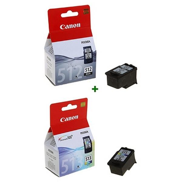 Originale Tintenpatrone (2er Pack) Canon PG512+CL513 (2 pcs) Schwarz/dreifarbig