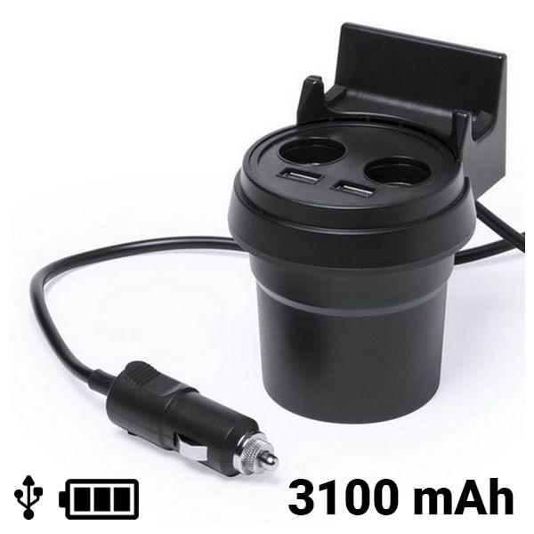 USB-Autoladegerät mit Handyhalterung 3100 mAh 145534