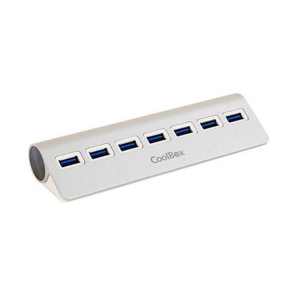 Hub USB CoolBox COO-HU7ALU3 Aluminium (7 anschlüsse)