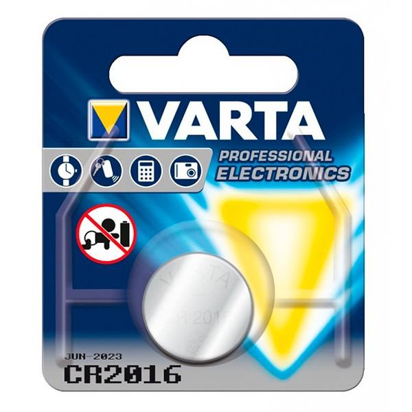 Lithium-Knopfzelle Varta CR-2016 3 V Silber