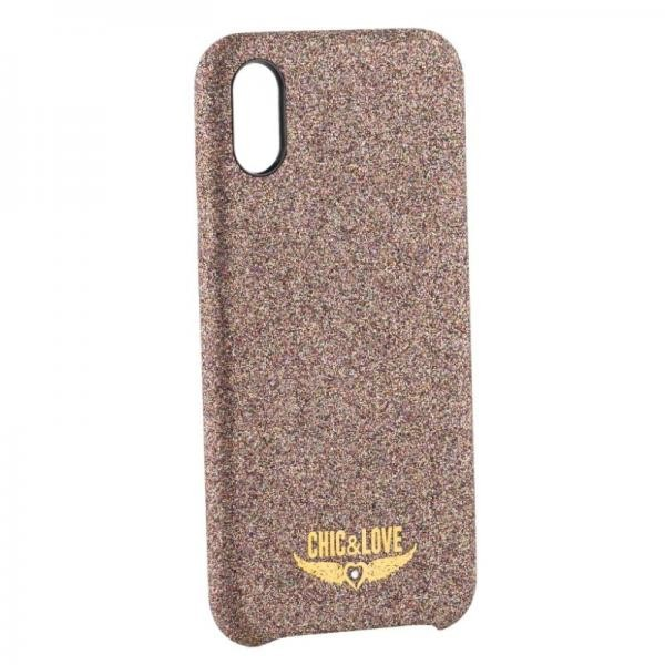 Hülle Iphone X-xs Chic & Love CHCAR005 Glitzernd Kupfer