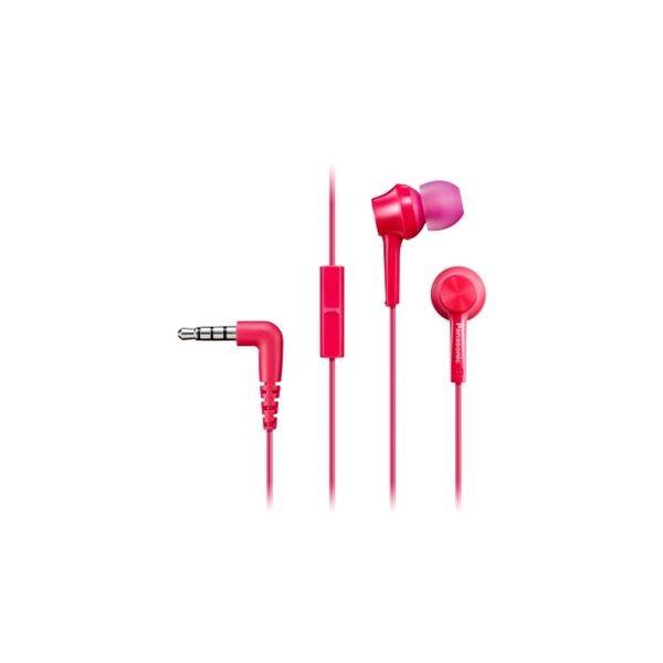 Kopfhörer mit Mikrofon In-ear Panasonic Corp. RP-TCM115E Rosa