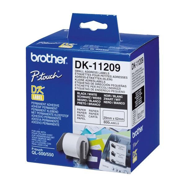Drucker-Etiketten Brother DK11209 62 x 29 mm Weiß