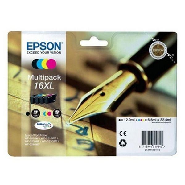 Originale Tintenpatrone (4er Pack) Epson T16XL Schwarz Cyan Magenta Gelb
