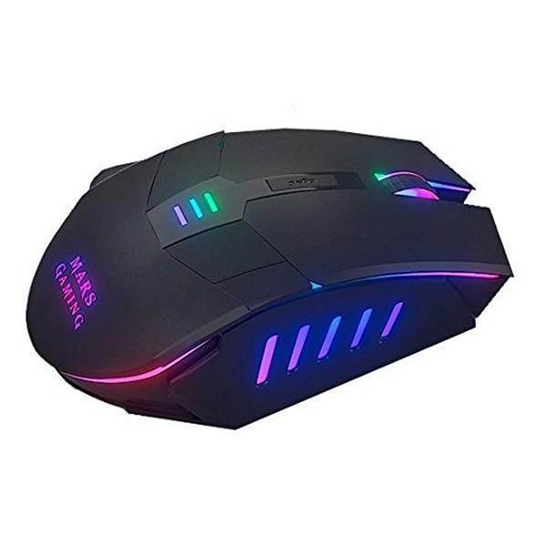 LED Gaming-Maus Mars Gaming Mars MM116 3200 dpi Schwarz