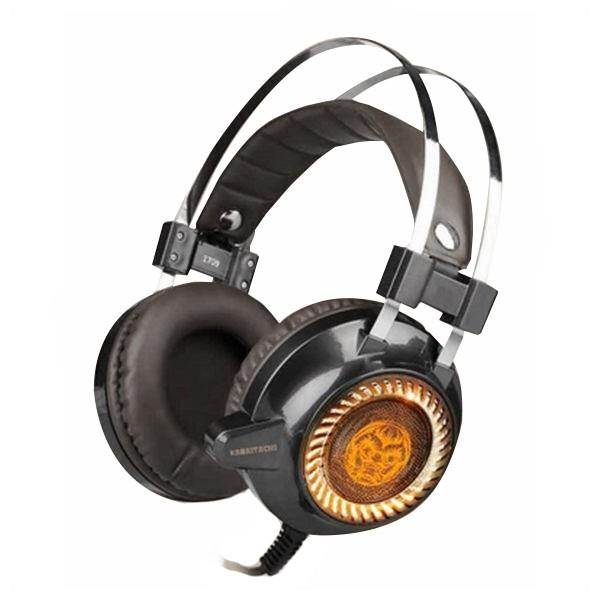 Gaming Headset mit Mikrofon iggual KAIMATACHI Braun Orange