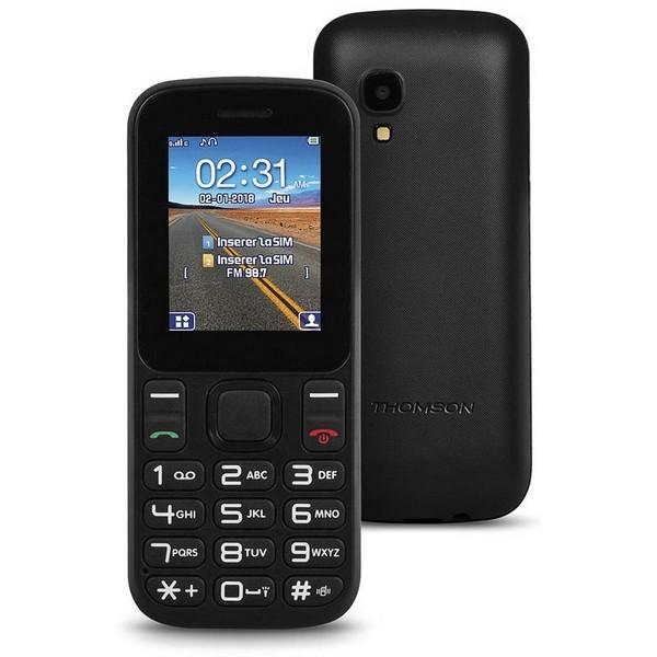 """Mobiltelefon für ältere Erwachsene Thomson TLINK T12 1,77"""" Bluetooth VGA FM Schwarz"""