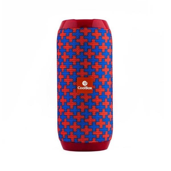 Bluetooth-Lautsprecher CoolBox COOLTUBE 10W 1200 mAh FM Rot Blau