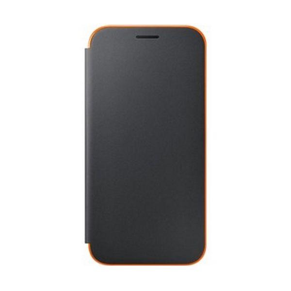 Handyhülle Samsung EF-FA520PBEGWW Samsung A5 2017 Neon Flip Cover Schwarz