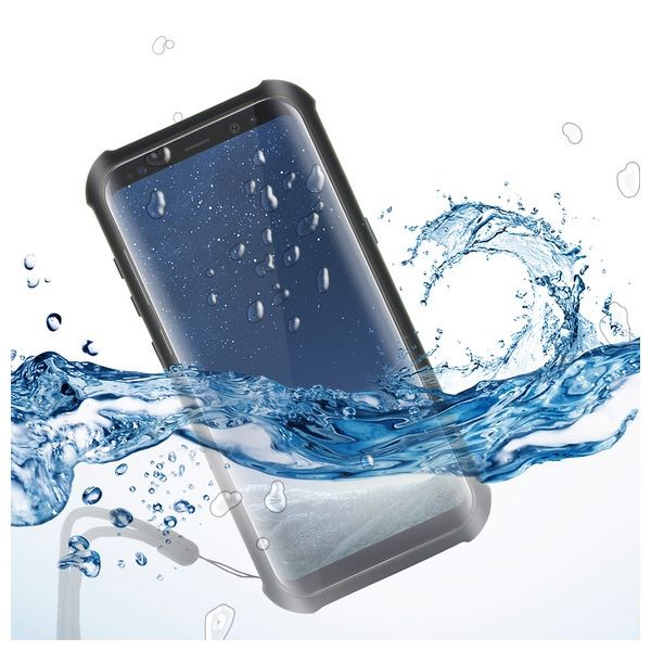 Wasserfestes Case Samsung Galaxy S8+ Aqua Case Schwarz Durchsichtig
