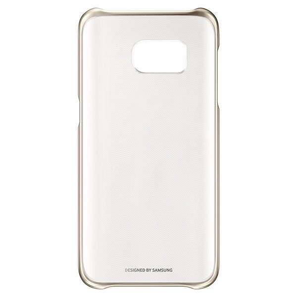 "Handyhülle Samsung Clear Cover EF-QG935 5.1"" Golden"