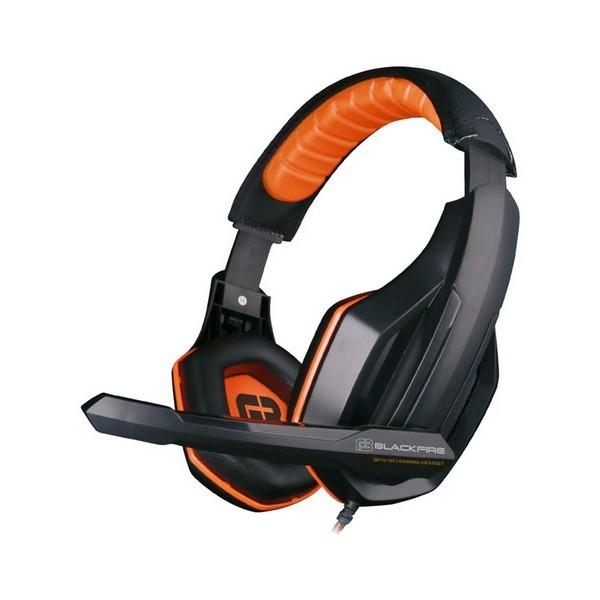 Gaming Headset mit Mikrofon Ardistel BLACKFIRE BFX-10 PS4 Schwarz Orange