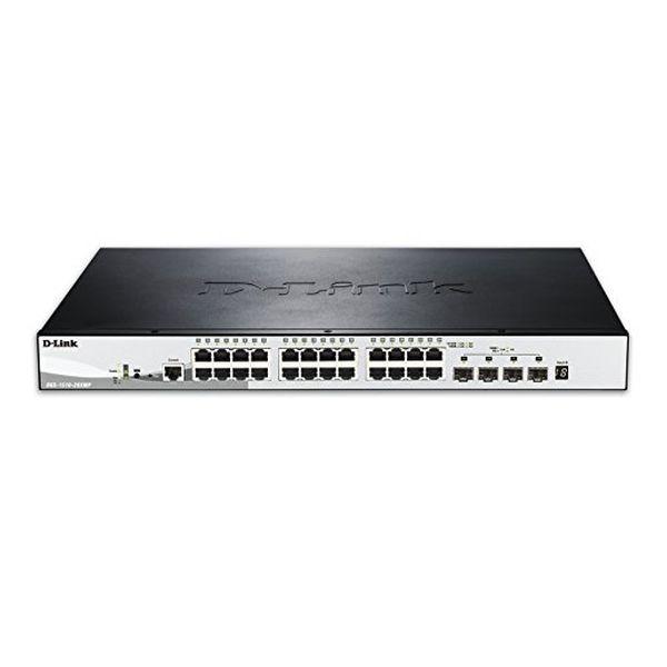 Schalter für das Netz mit Schaltschrank D-Link NSWSAR0186 DGS-1510-28XMP 24xGB 4x10GB SFP+