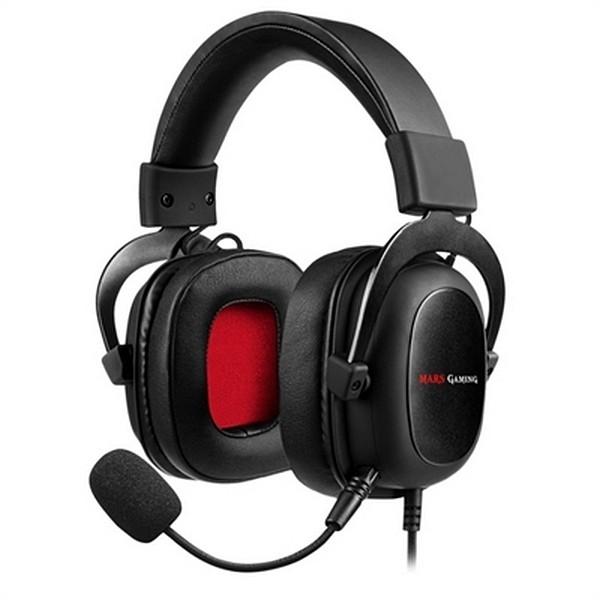 Gaming Headset mit Mikrofon Mars Gaming MH5 (3.5 mm) Schwarz
