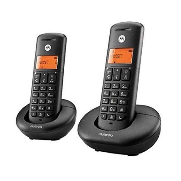 Kabelloses Telefon Motorola F52000K50O2AES03 (2 Pcs) Schwarz
