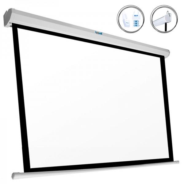 """Elektrische Panorama-Leinwand iggual PSIPS243 110"""" (243 x 137 cm) Weiß"""
