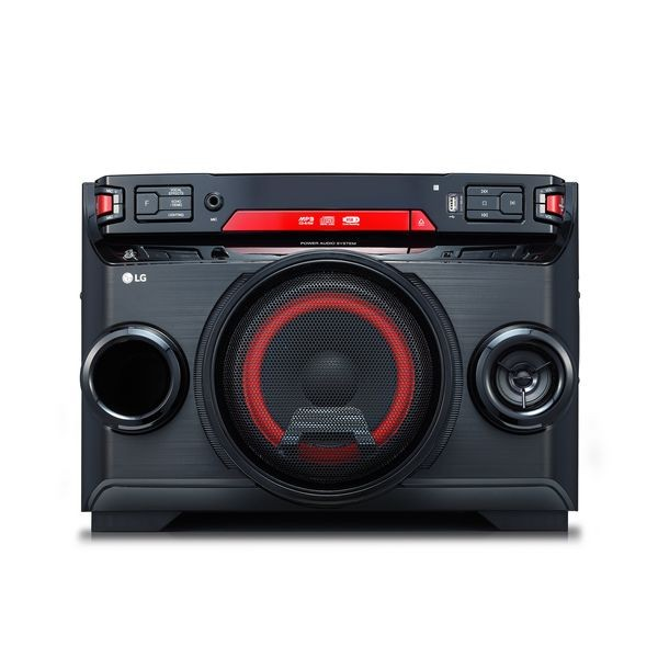 Micro-Hi-Fi-System LG OK45 220W Bluetooth Schwarz Rot