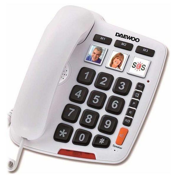 Festnetz für ältere Menschen Daewoo DTC-760 LED Weiß