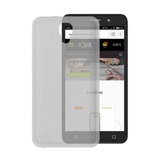 Handyhülle Alcatel Pixi 4 (5)/orange Rise 51 Flex TPU Durchsichtig
