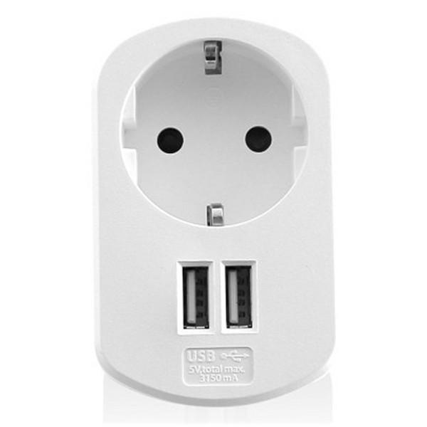 Wandstecker mit 2 USB-Ports Ewent EW1211 3,1 A