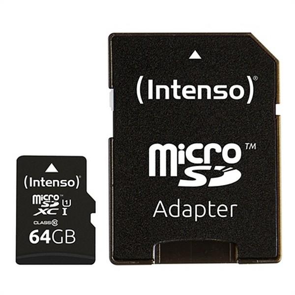 Mikro SD Speicherkarte mit Adapter INTENSO 34234 UHS-I XC Premium Schwarz