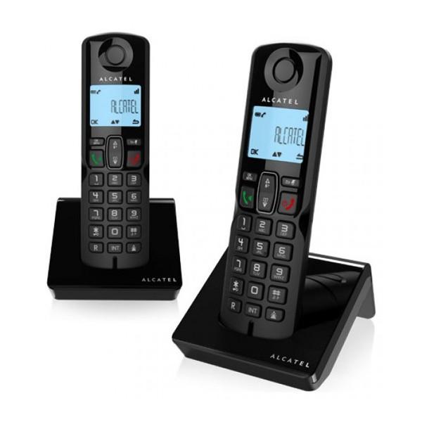 Kabelloses Telefon Alcatel S250DUO DECT Schwarz (2 Pcs)