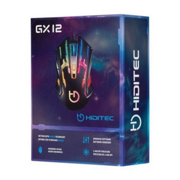 Gaming Maus Hiditec GMO010002 2400 DPI Schwarz